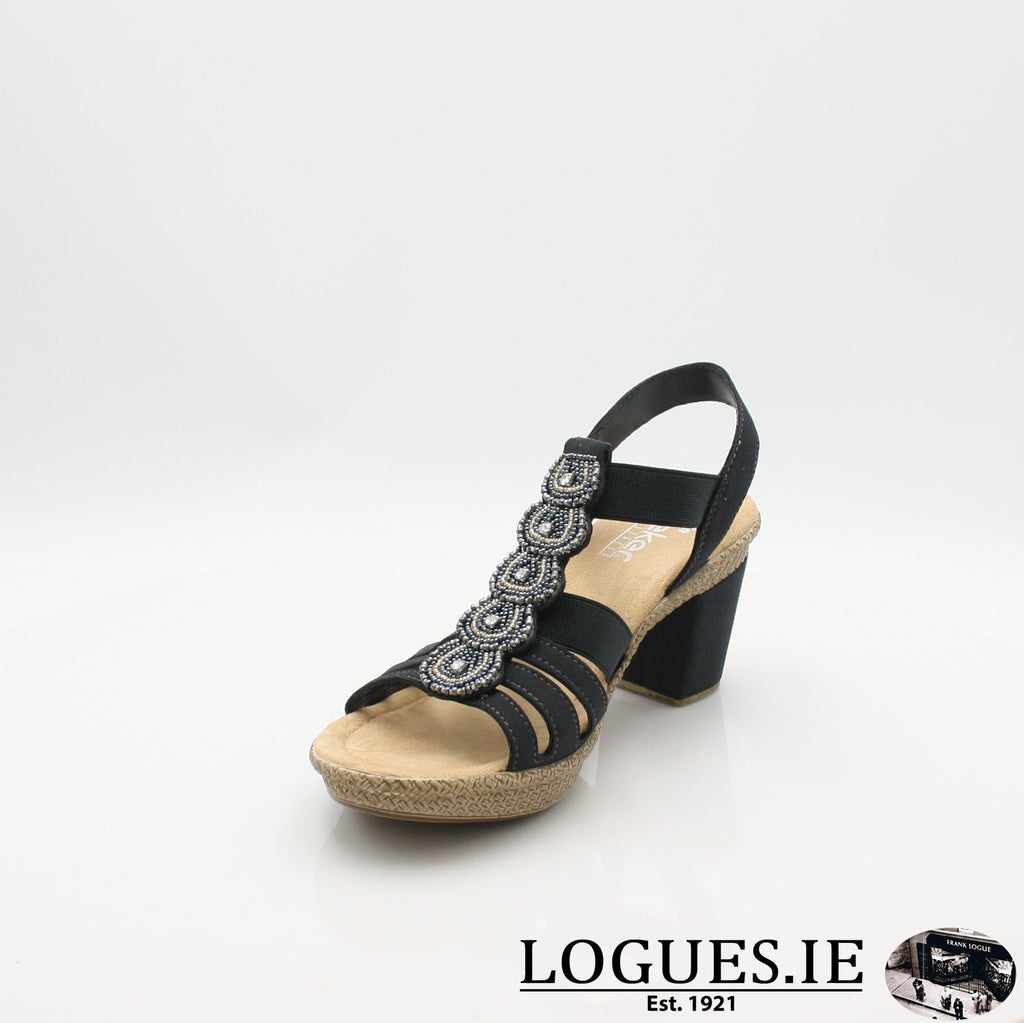665G8 RIEKER 19LadiesLogues Shoesblue 14 / 38