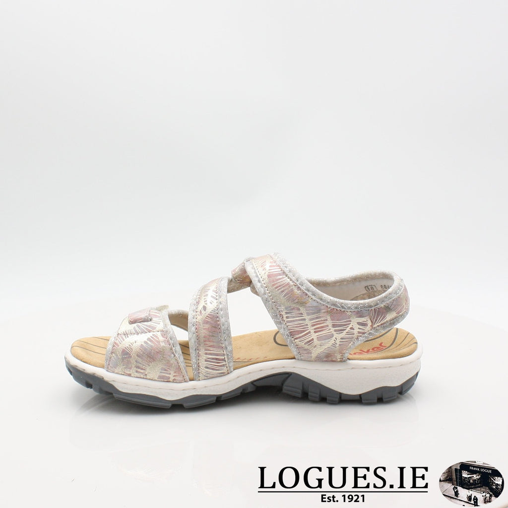 68869 19 RIEKERLadiesLogues Shoesmetallic 90 / 39
