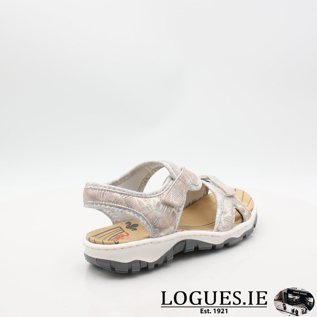 68869 19 RIEKERLadiesLogues Shoesmetallic 90 / 42