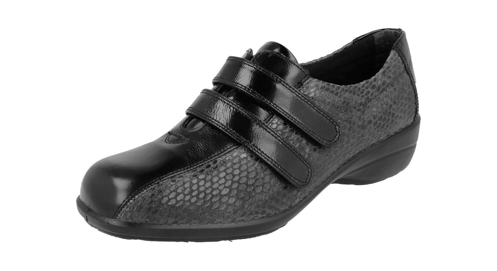 CHANTELLE EASY B-Ladies-DB SHOES-BLACK PATENT-3 UK-4 E-Logues Shoes