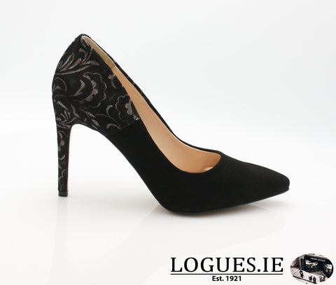 8327 WOJAS AW18LadiesLogues ShoesBLACK MULTY 71 / 36 = 3 UK