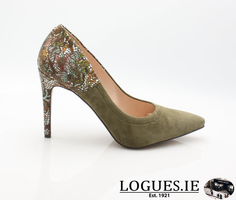 8327 WOJAS AW18LadiesLogues ShoesOLIVE GREEN -77 / 36 = 3 UK