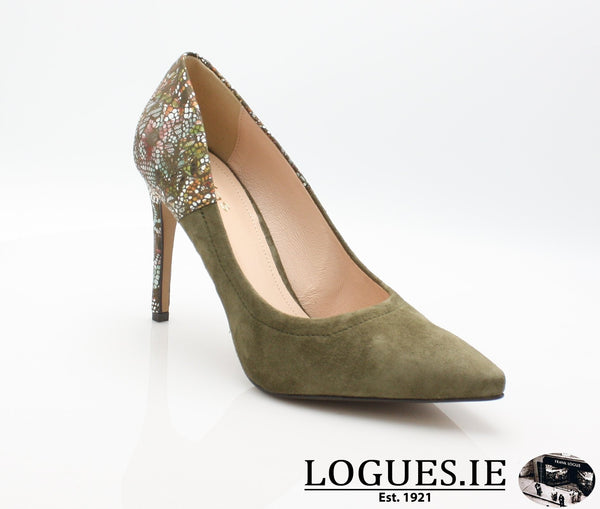 8327 WOJAS AW18LadiesLogues ShoesOLIVE GREEN -77 / 37 = 4 UK