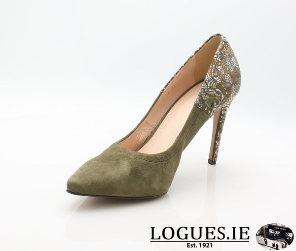 8327 WOJAS AW18LadiesLogues ShoesOLIVE GREEN -77 / 38 = 5UK