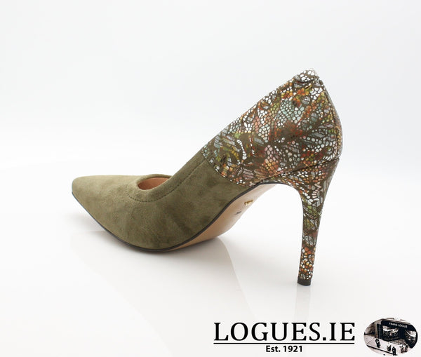 8327 WOJAS AW18LadiesLogues ShoesOLIVE GREEN -77 / 40 = 6.5/7 UK