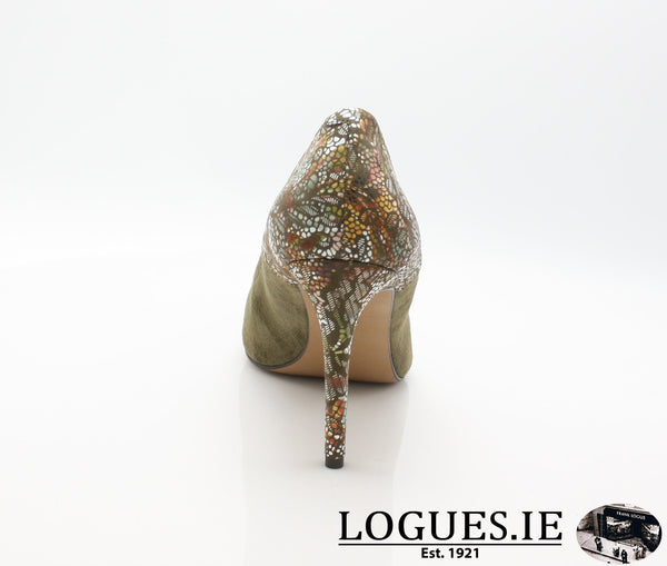 8327 WOJAS AW18LadiesLogues ShoesOLIVE GREEN -77 / 41 = 7/8 UK