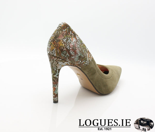 8327 WOJAS AW18LadiesLogues ShoesOLIVE GREEN -77 / 42 = 8 UK