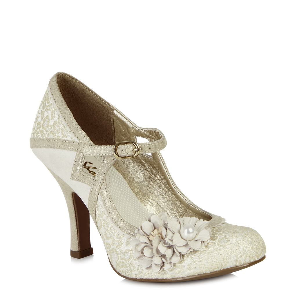 YASMIN 09088 RUBY SHOO-Ladies-RUBY SHOO-CREAM-38 = 5UK-Logues Shoes
