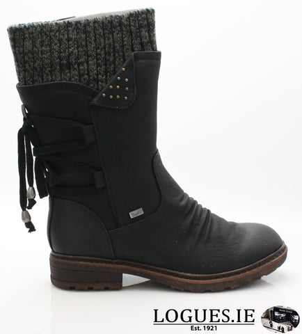 RKR 94773LadiesLogues Shoesschwarz/black-gre 00 / 36