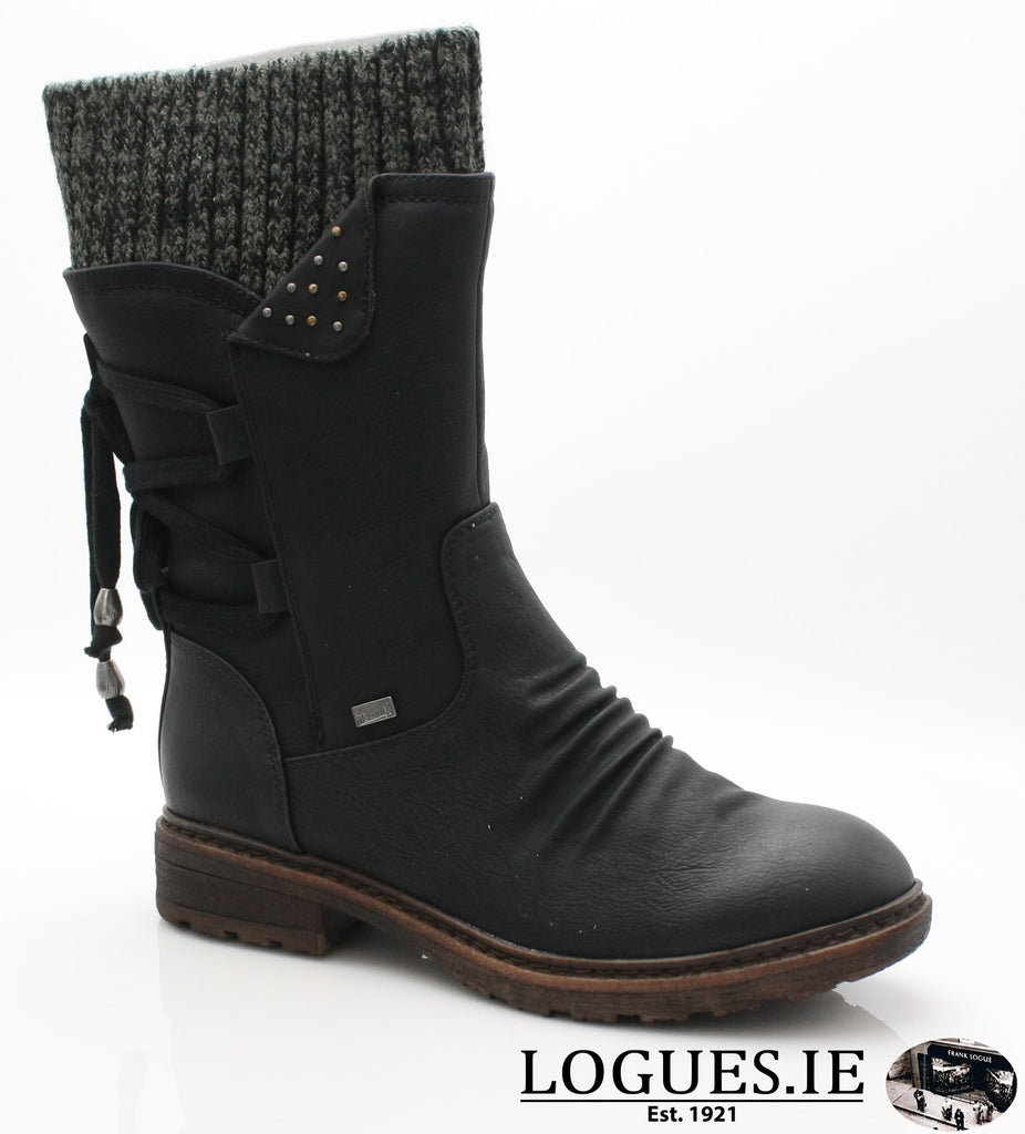 RKR 94773LadiesLogues Shoesschwarz/black-gre 00 / 37
