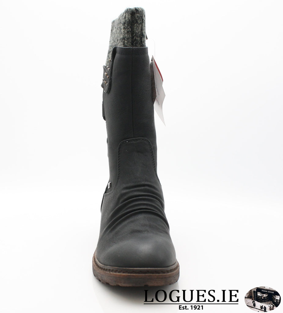 RKR 94773LadiesLogues Shoesschwarz/black-gre 00 / 38