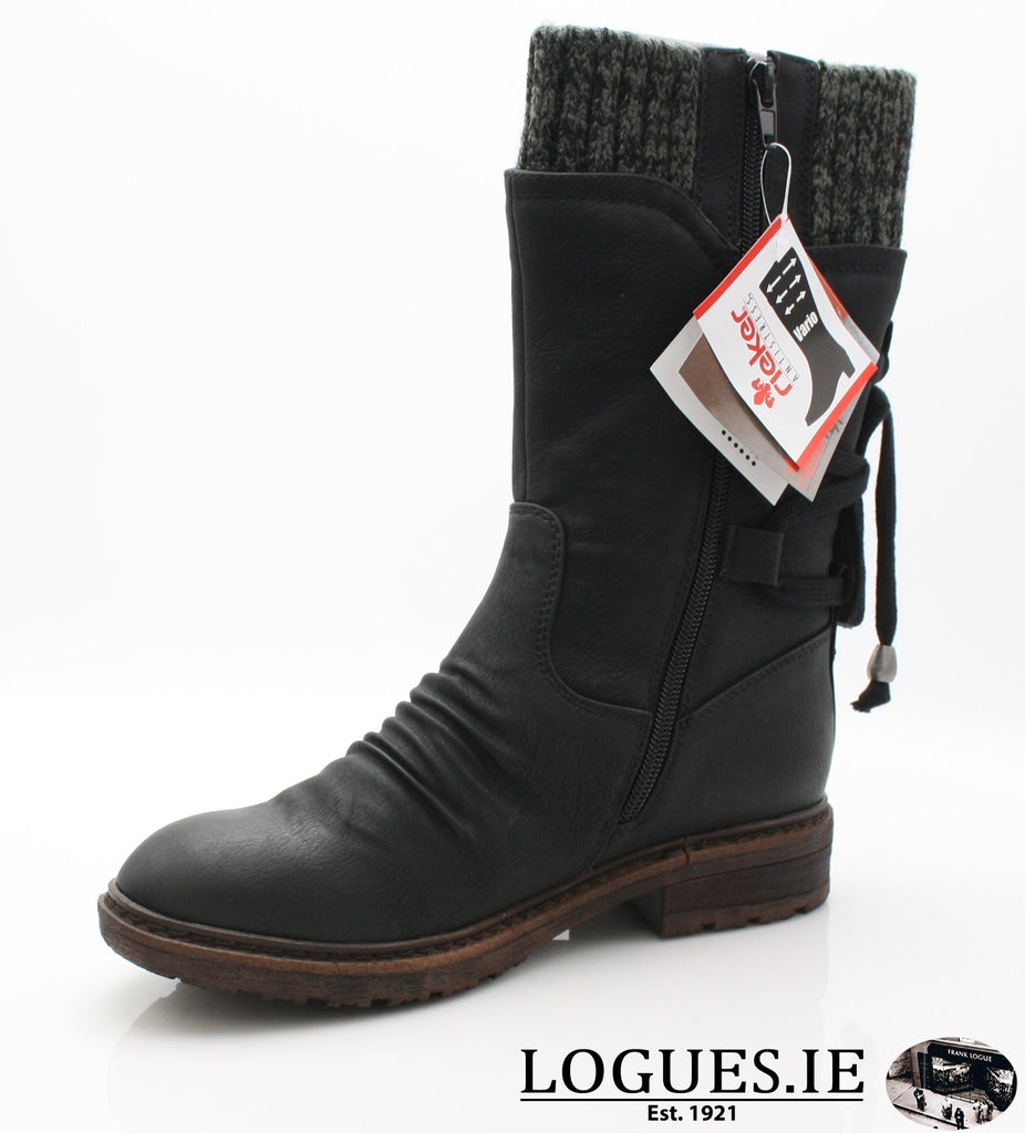RKR 94773LadiesLogues Shoesschwarz/black-gre 00 / 40