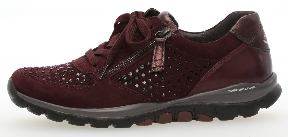 GAB 96.968LadiesLogues Shoes48 New Merlot(Strass / 9½