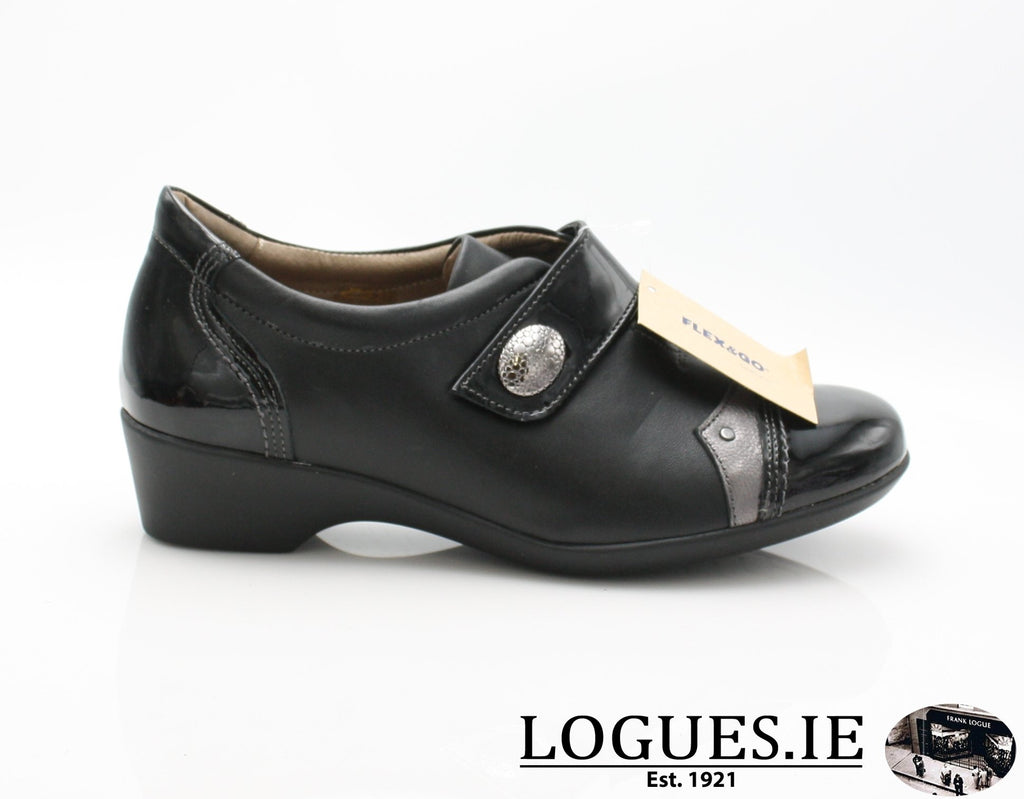 ALYSSUM W18 FLEX&GO-Ladies-FLEX& GO FOOTWEAR-BLACK-36 = 3 UK-Logues Shoes