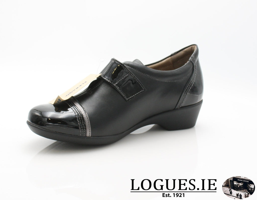 ALYSSUM W18 FLEX&GO-Ladies-FLEX& GO FOOTWEAR-BLACK-39 = 6 UK-Logues Shoes