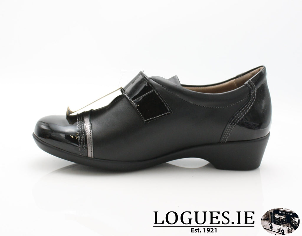 ALYSSUM W18 FLEX&GO-Ladies-FLEX& GO FOOTWEAR-BLACK-40 = 6.5/7 UK-Logues Shoes