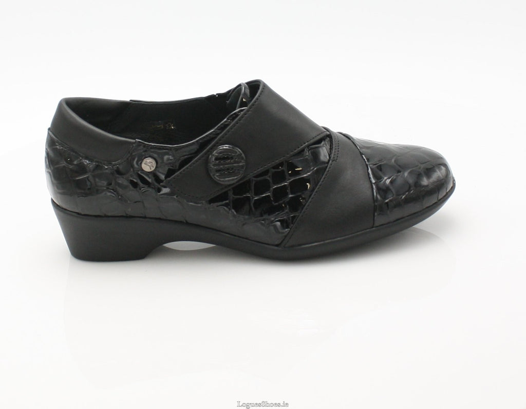 ANNAPURNA SS18 FLEX & GO-Ladies-FLEX& GO FOOTWEAR-BLACK-36 = 3 UK-Logues Shoes
