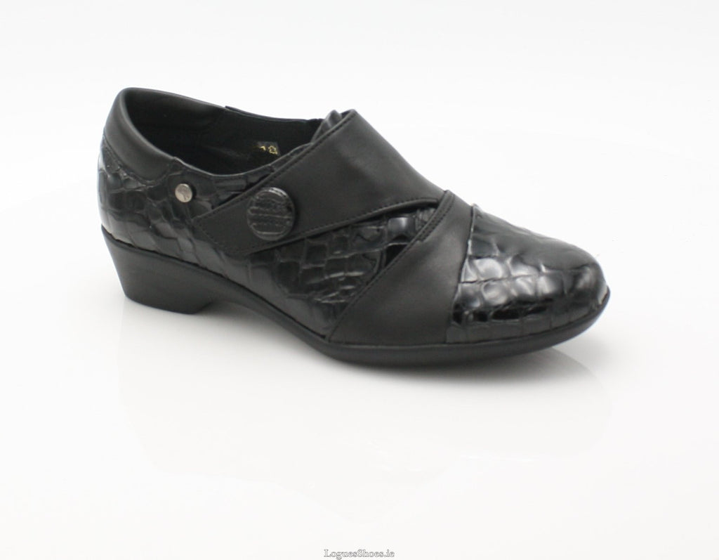 ANNAPURNA SS18 FLEX & GO-Ladies-FLEX& GO FOOTWEAR-BLACK-37 = 4 UK-Logues Shoes