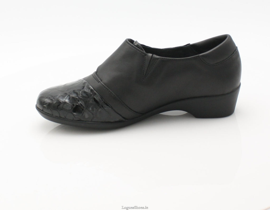 ANNAPURNA SS18 FLEX & GO-Ladies-FLEX& GO FOOTWEAR-BLACK-39 = 6 UK-Logues Shoes