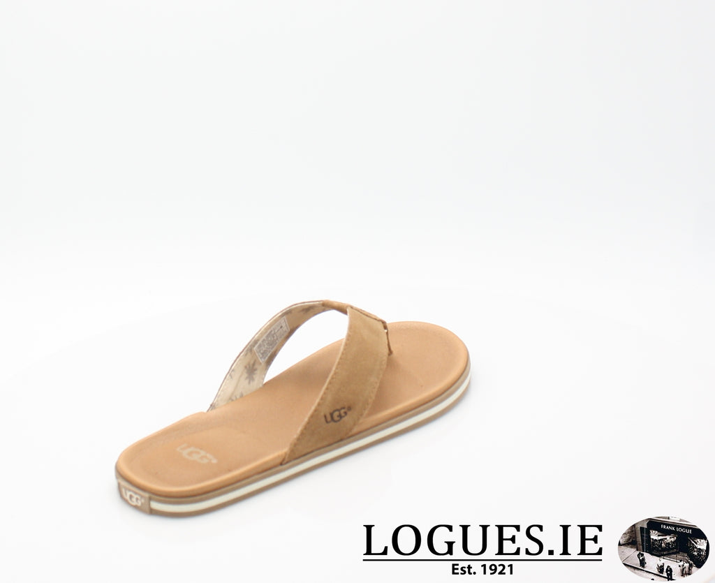 UGGS BEACH FLIPMensLogues ShoesCHESTNUT / 12 UK = 47 EU= 13 US