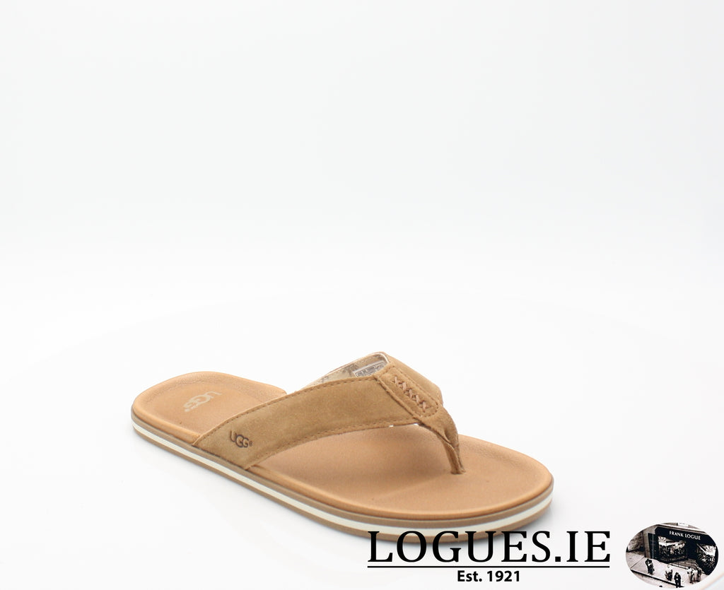 UGGS BEACH FLIPMensLogues ShoesCHESTNUT / 7 UK = 40.5 EU = 8 US