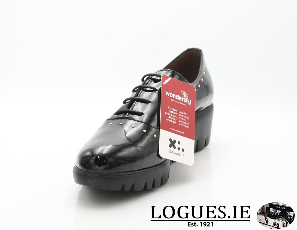 C-33133 WONDERS AW18-Ladies-WONDERS-CHAROL NEGRO-36 = 3 UK-Logues Shoes