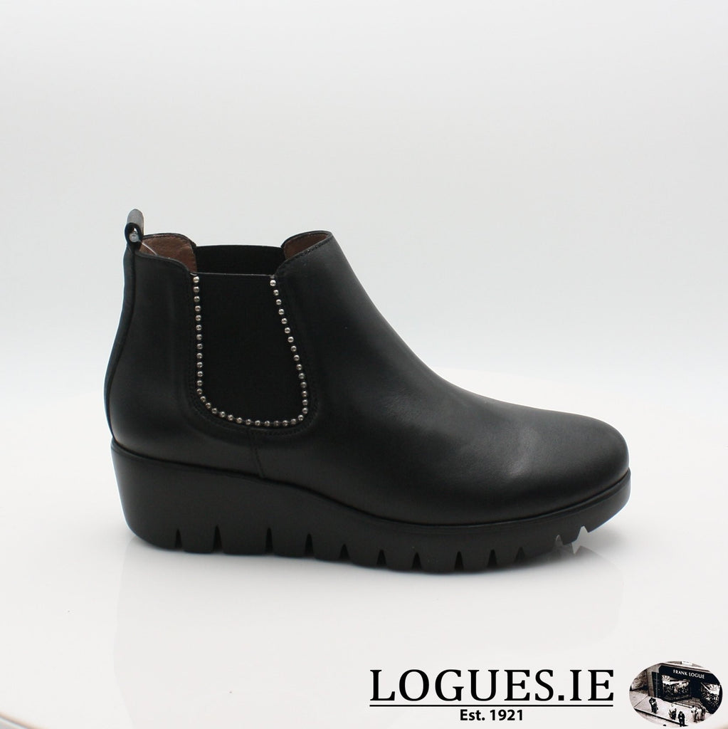 C-33173 WONDERS 19BOOTSLogues ShoesVELVET NEGRO / 3 UK- 36 EU - 5 US