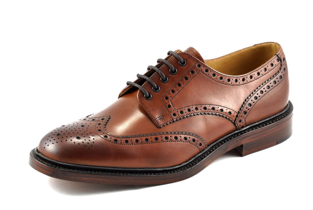 Chester Loake-Mens-LOAKE SHOES-Mahogany-13-F-Logues Shoes