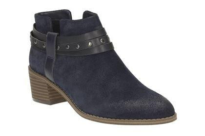 CLA Breccan ShineLadiesLogues ShoesNavy Suede / 085 / D
