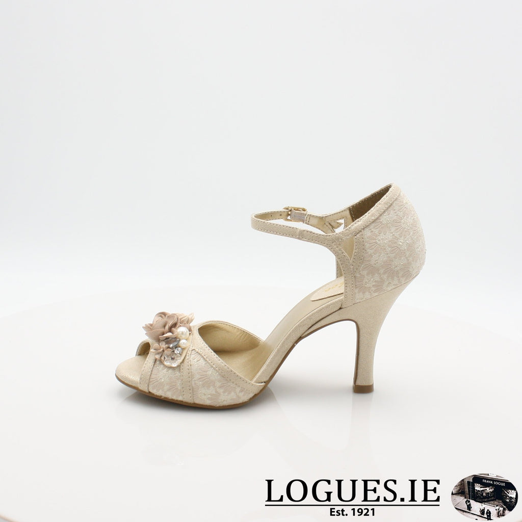 CLARISSA RUBY SHOO S19-Ladies-RUBY SHOO-CREAM/GOLD-5 UK- 38 EU- 7 US-Logues Shoes