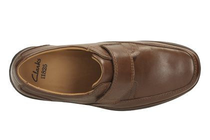 SWIFT TURN CLARK'S EX WIDE-Mens-Clarks-Mahogany Leathe-060-H-Logues Shoes