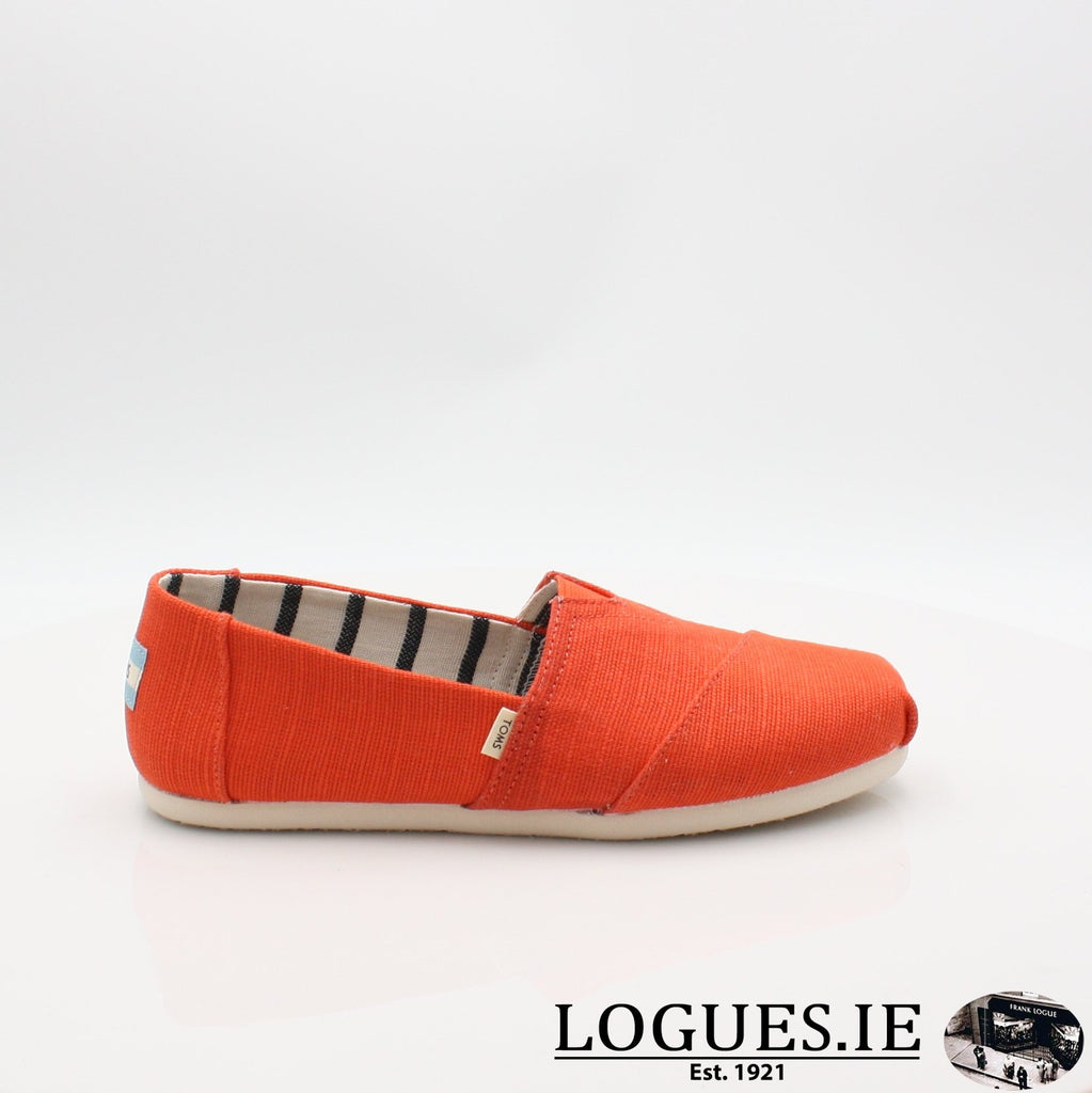 10013503 ALPARGATA TOMS S19LadiesLogues ShoesORANGE / 4 UK -37 EU - 6 US