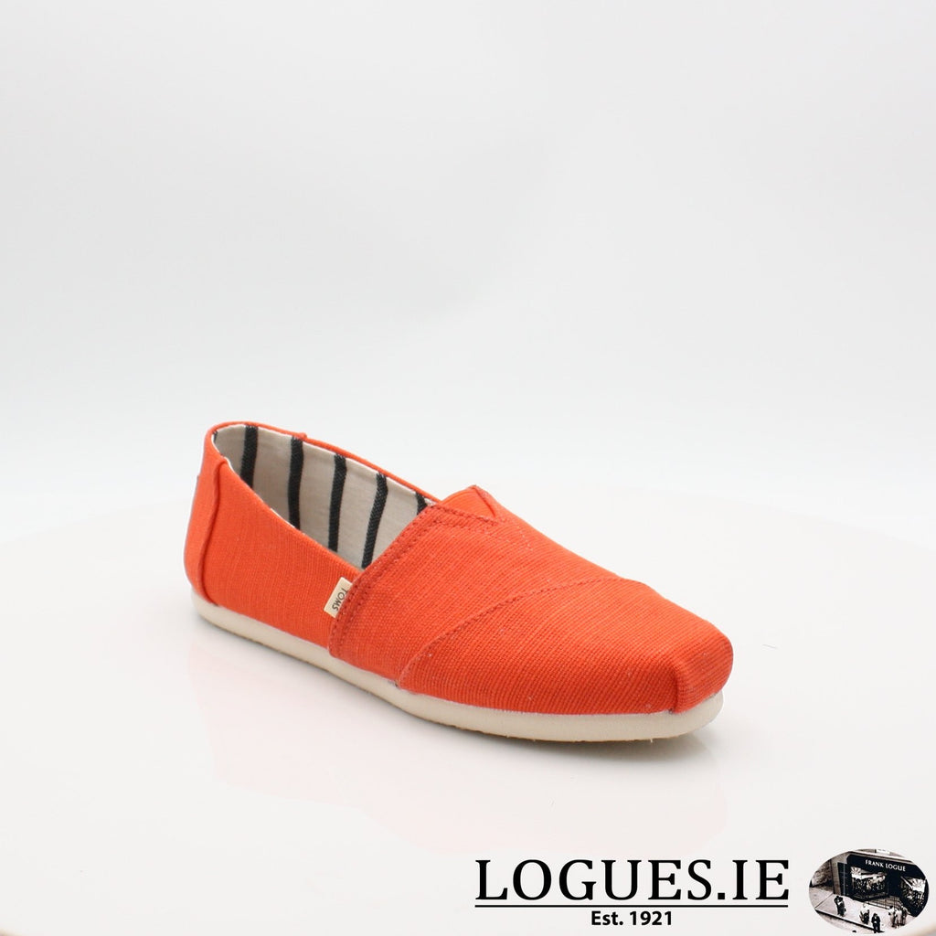 10013503 ALPARGATA TOMS S19LadiesLogues ShoesORANGE / 5 UK- 38 EU- 7 US