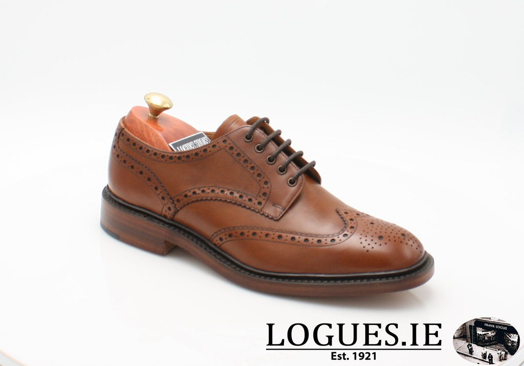 Chester Loake-Mens-LOAKE SHOES-Mahogany-7½-F-Logues Shoes