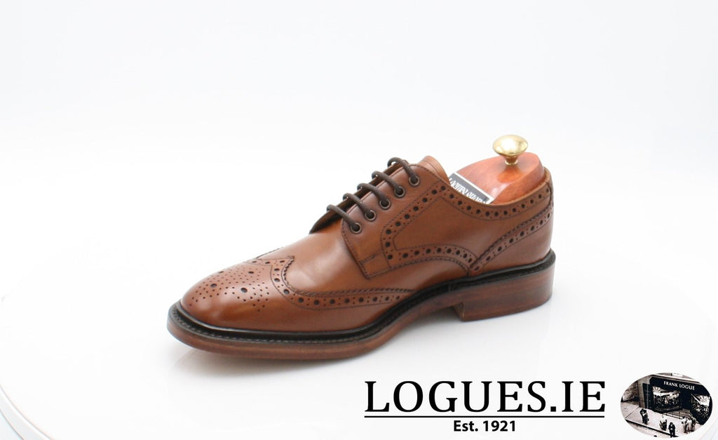 Chester Loake-Mens-LOAKE SHOES-Mahogany-10-F-Logues Shoes