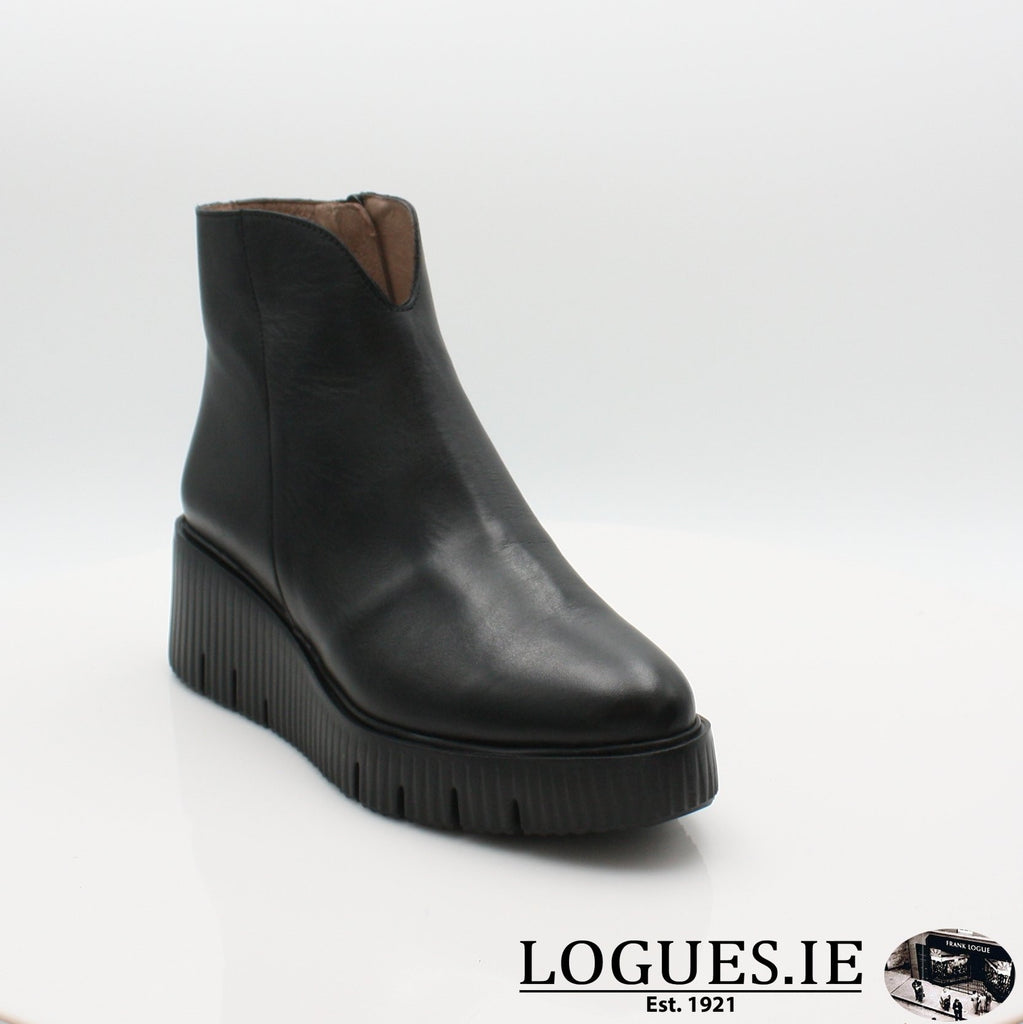 E-6210 WONDERS 19BOOTSLogues ShoesVELVET NEGRO / 4 UK -37 EU - 6 US