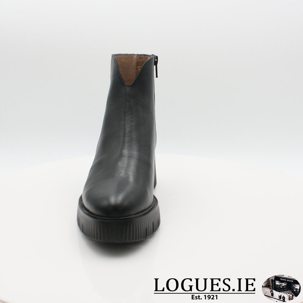 E-6210 WONDERS 19BOOTSLogues ShoesVELVET NEGRO / 5 UK- 38 EU- 7 US