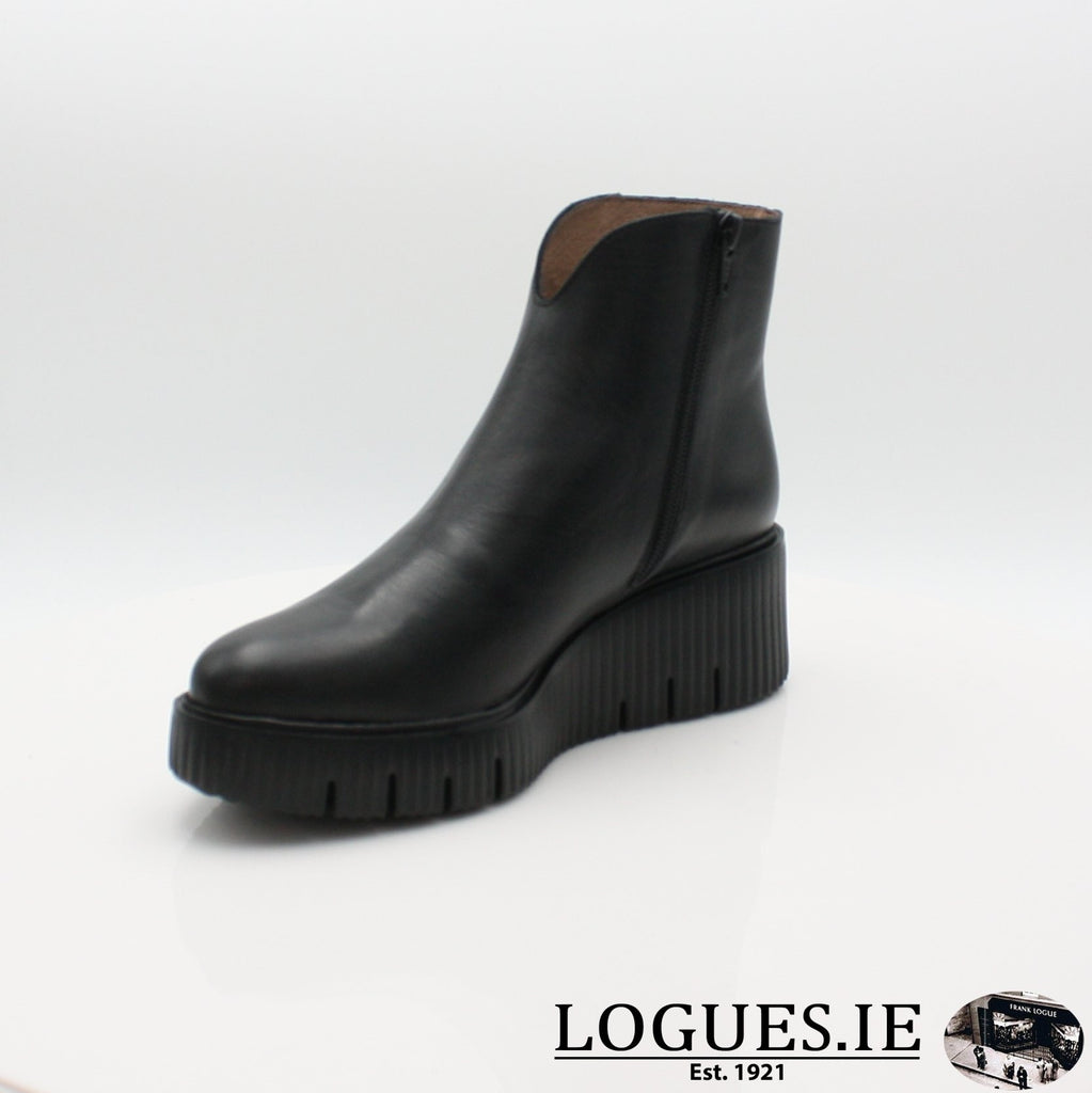 E-6210 WONDERS 19BOOTSLogues ShoesVELVET NEGRO / 6 UK- 39 EU - 8 US