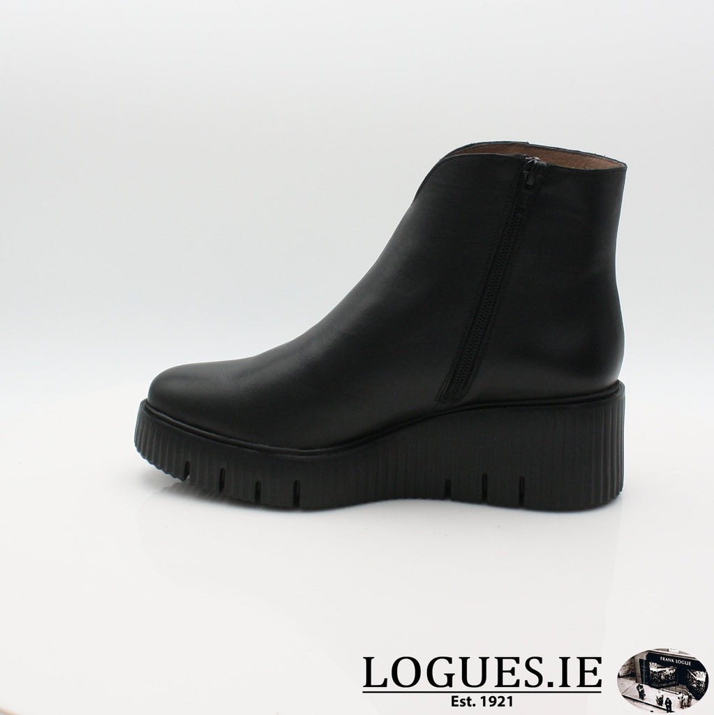 E-6210 WONDERS 19BOOTSLogues ShoesVELVET NEGRO / 6.5 UK - 40 EU -8.5 US