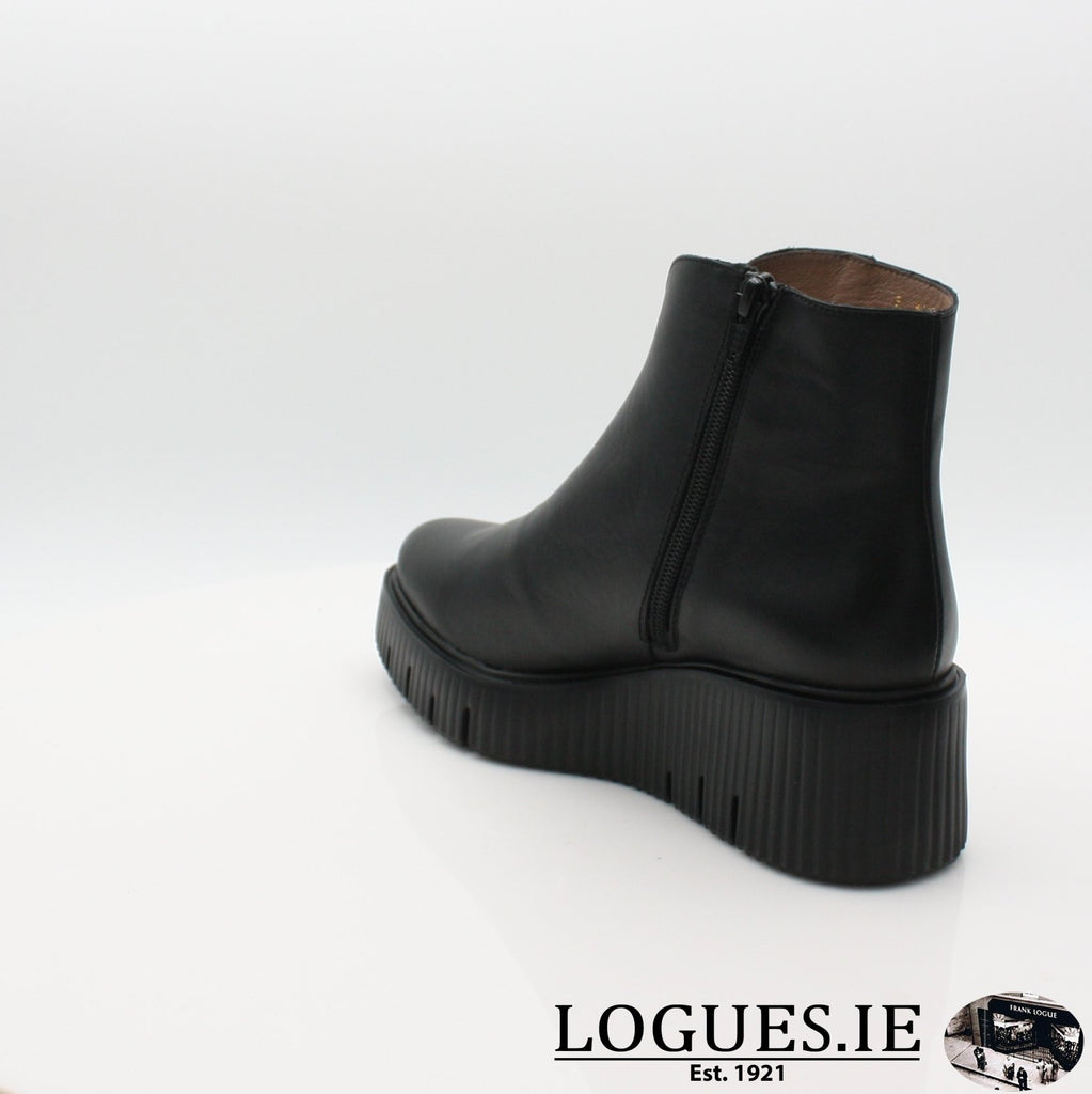 E-6210 WONDERS 19BOOTSLogues ShoesVELVET NEGRO / 7 UK- 41 EU - 9 US