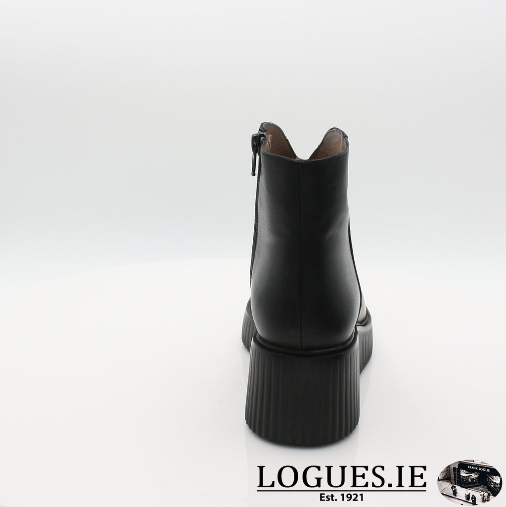 E-6210 WONDERS 19BOOTSLogues ShoesVELVET NEGRO / 8 UK - 42 EU -10 US