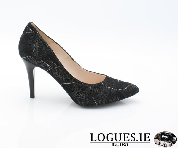 6441 EMIS AW 18LadiesLogues ShoesBLACK/SILVER / 42 = 8 UK
