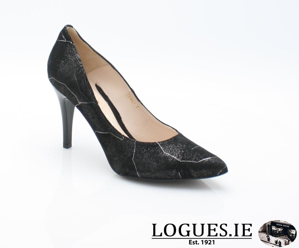 6441 EMIS AW 18LadiesLogues ShoesBLACK/SILVER / 38 = 5UK
