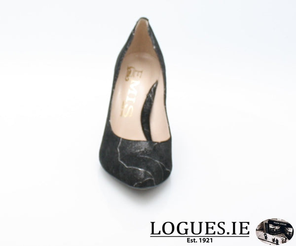 6441 EMIS AW 18LadiesLogues ShoesBLACK/SILVER / 39 = 6 UK