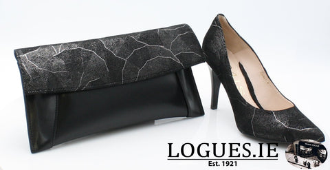 6441 EMIS AW 18LadiesLogues ShoesBLACK/SILVER / 37 = 4 UK