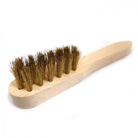 SMALL SUEDE BRASS BRUSH