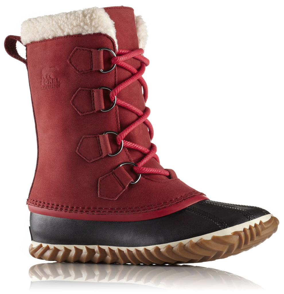 NL2649 CARIBOU SLIM AW17-Ladies-SOREL/COLUMBIA-RED LEMENT 611-6 US - 4 UK-Logues Shoes