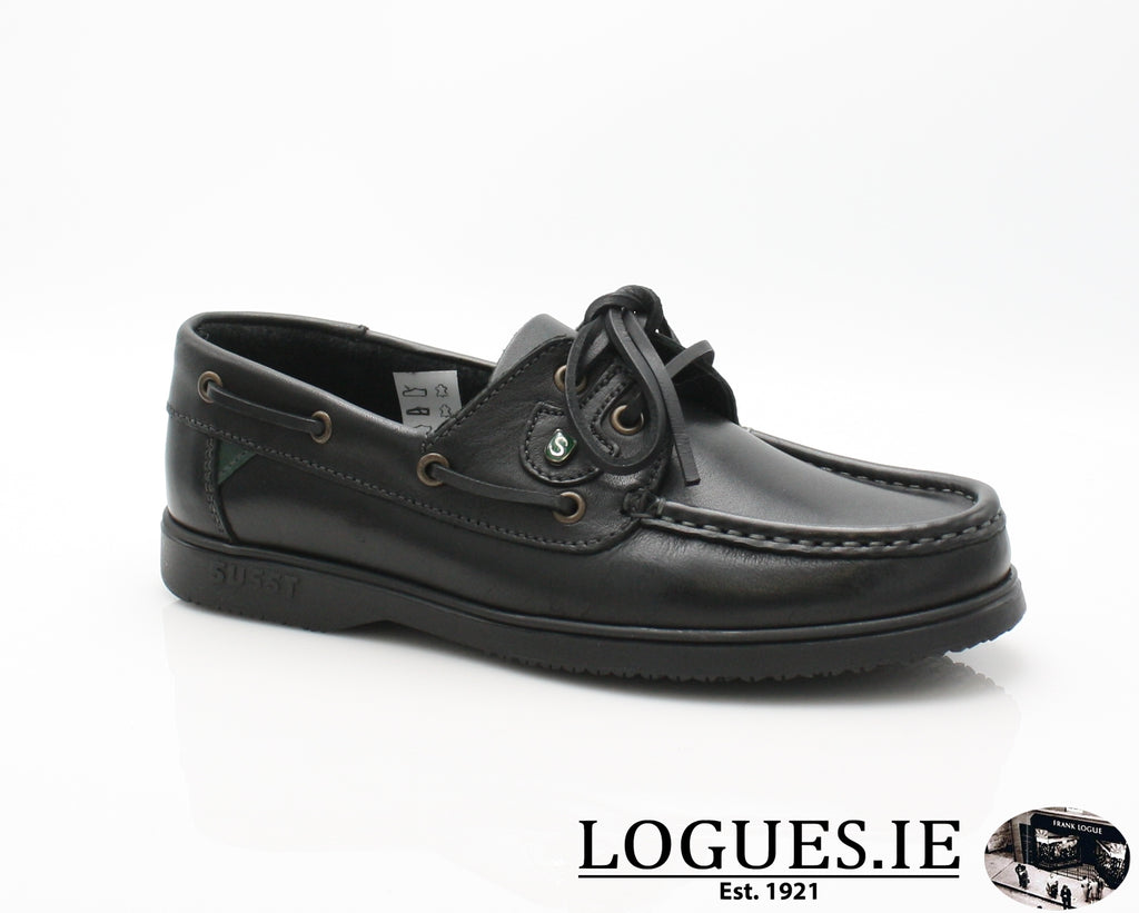 GABY-BLACK SOLE BOAT SHOE, Kids, Whelan-SUSST-WRANGLER, Logues Shoes - Logues Shoes.ie Since 1921, Galway City, Ireland.