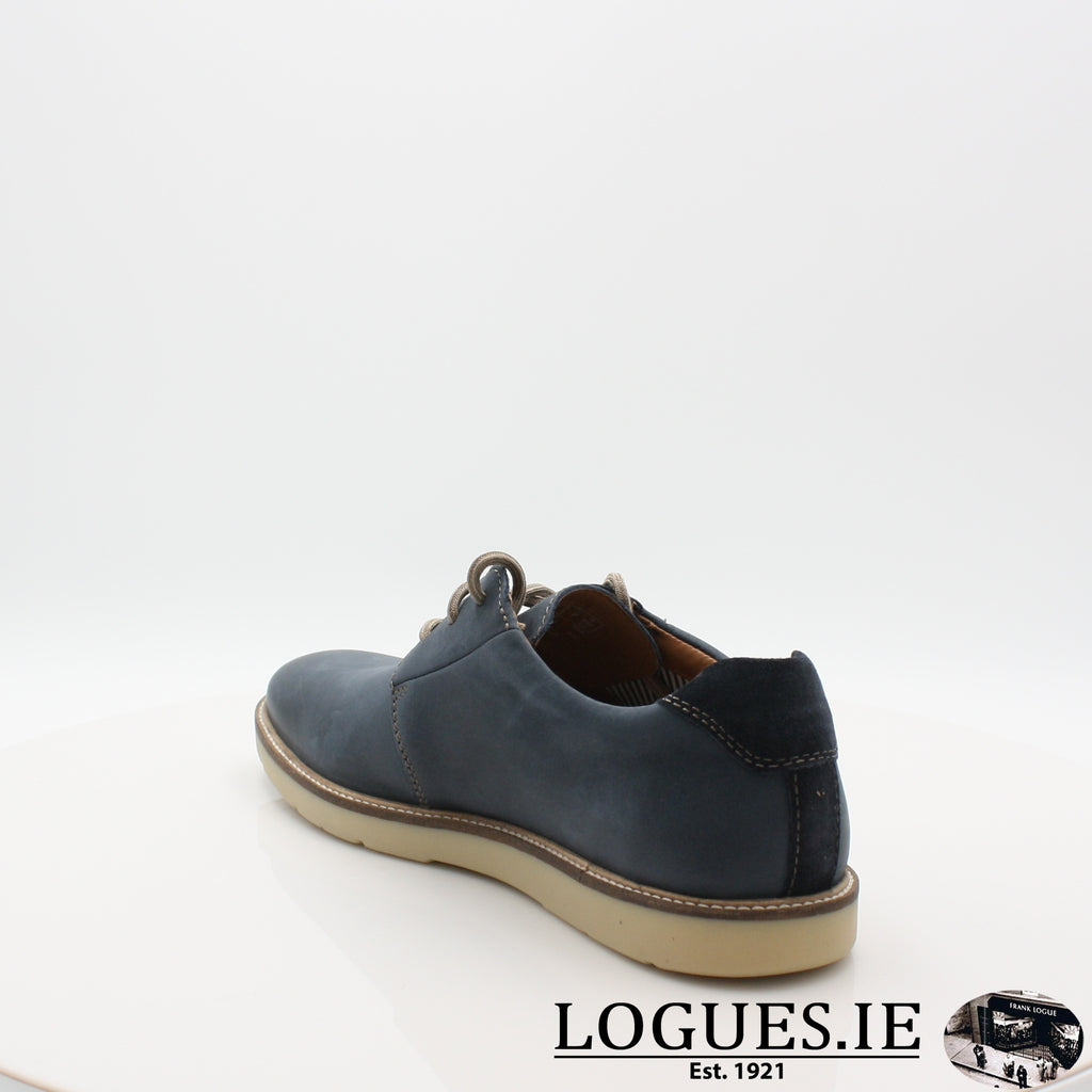 Grandin Plain CLARKS 19-Mens-Clarks-Navy Leather-070-G-Logues Shoes