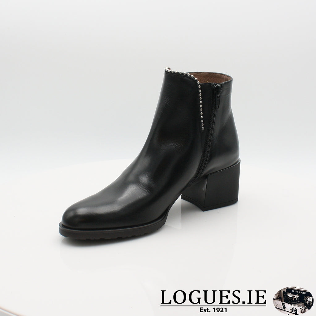 H-3522 WONDERS 19BOOTSLogues ShoesOREGON NEGRO / 6 UK- 39 EU - 8 US